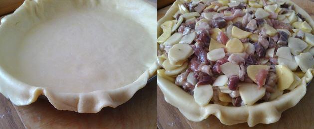 как делать пирог с гусем и картофелем