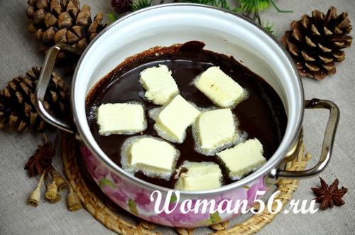 помадка из какао и сливочное масло