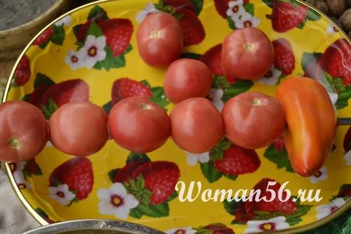 помидоры на шампурах