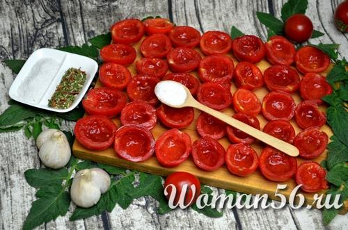 помидоры с солью