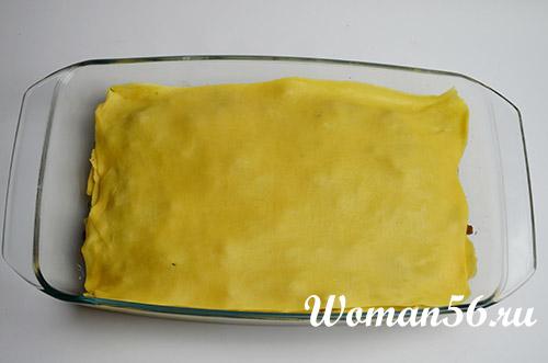 верхний слой лазаньи