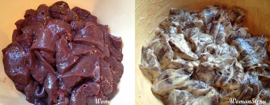 Приготовление  говяжьей печени. Говяжья печень жареная