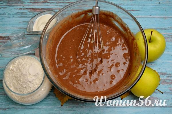 рецепт шоколадного теста на шарлотку