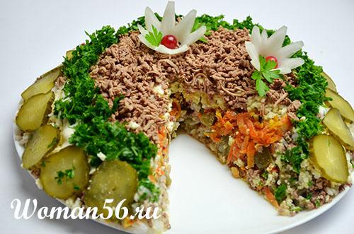 Салат с куриной печенью - рецепт с фото