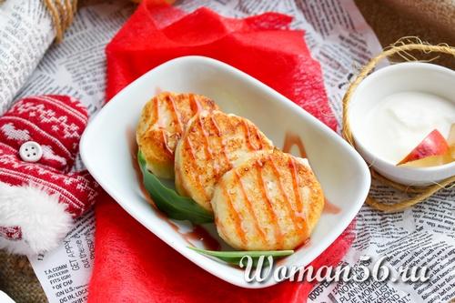 Рецепт сырников из творога с яблоками