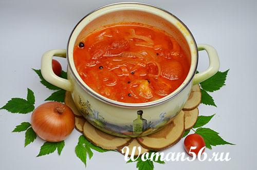 рецепт томатного соуса с луком