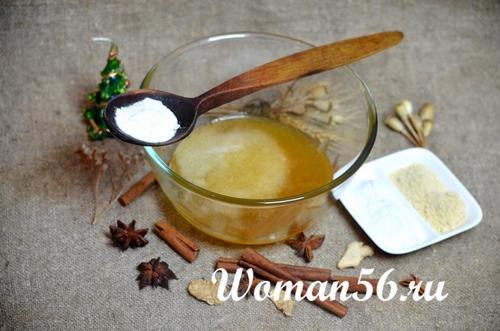 имбирный порошок с медом