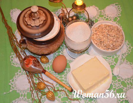 овсяное печенье ингредиенты