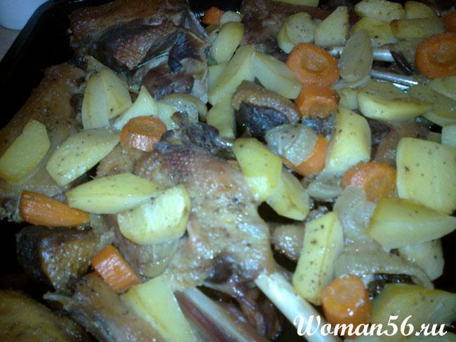 Рецепт запеченного гуся