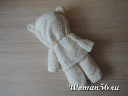 ушки медвежонка из полотенца