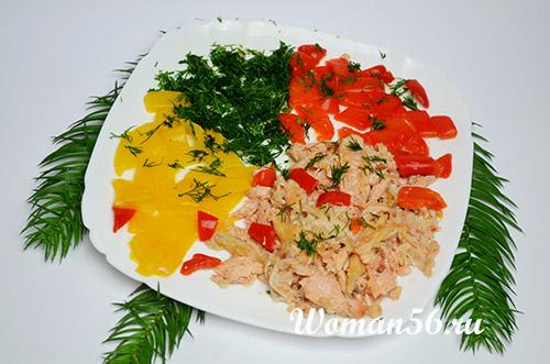 очищенная рыба для заливного с овощами