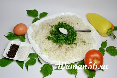 рис для тефтелей