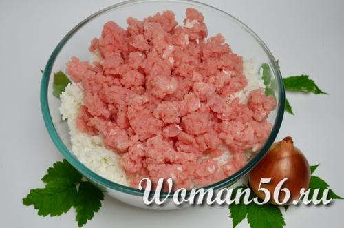 рис с фаршем