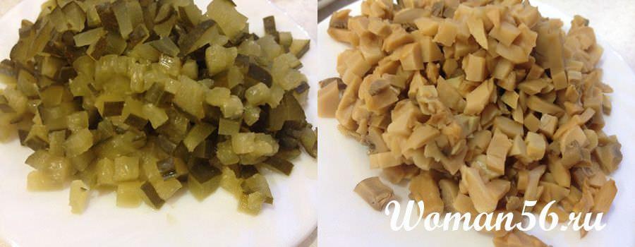 огурцы и грибы