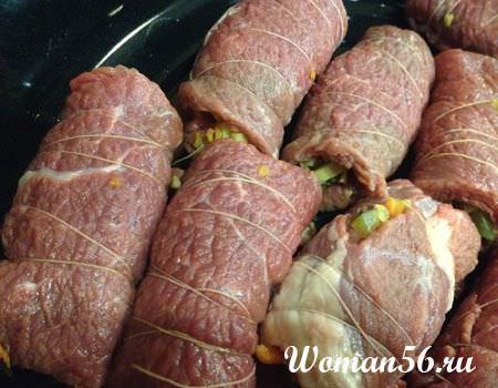 рулет из говядины в духовке рецепт с фото пошагово