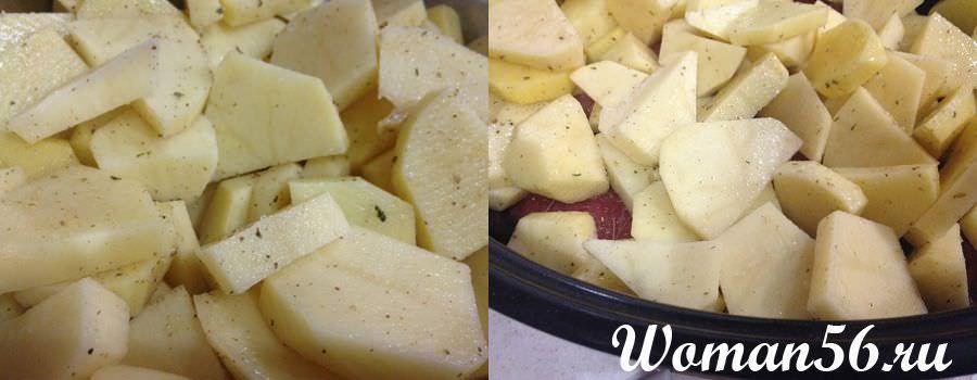 Рулеты из говядины с картофелем