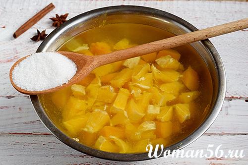 сахар для компота из тыквы