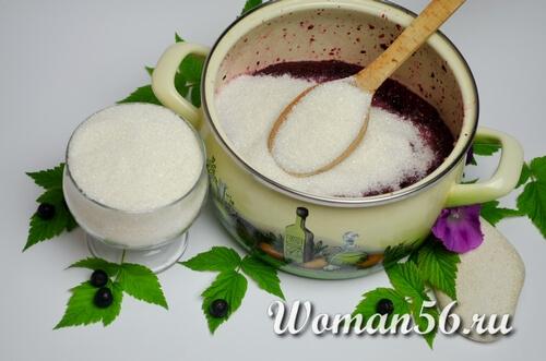 сахар для джема из черноплодной рябины