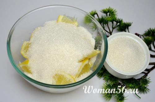 лимоны с сахаром для пирога