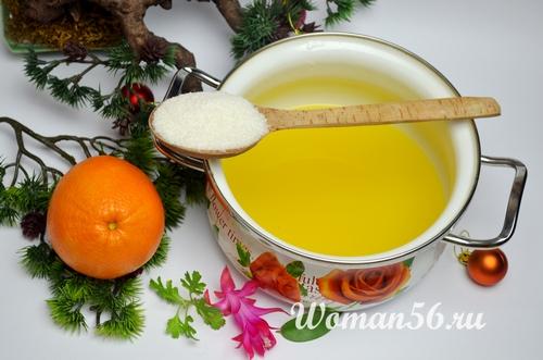 сахар для мармелада апельсин