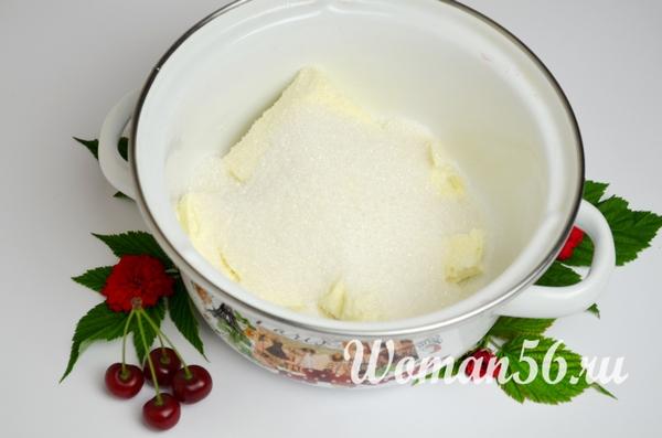 масло с сахаром для теста на пирог