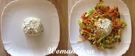 салат из моркови с творогом