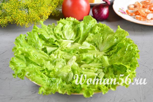 капустный салат для креветок