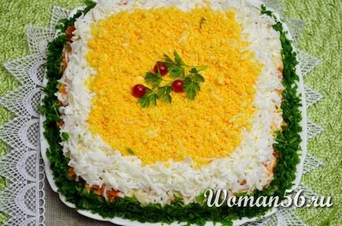 Салат из консервированной сайры «Мимоза»