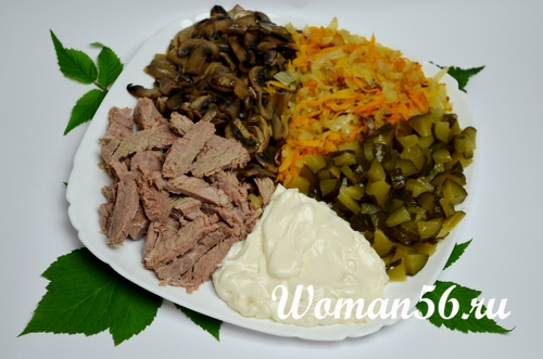 рецепт мясного салата