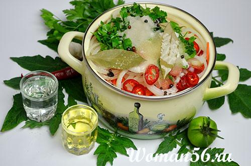 специи для салата из зеленых помидор