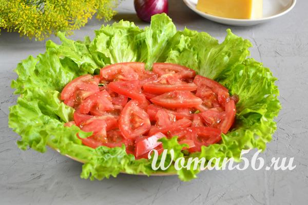 капустный салат с помидорами