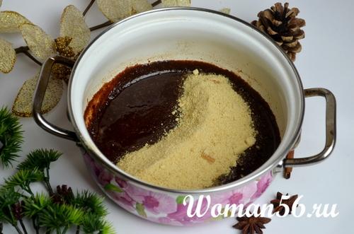 шоколад с перемолотым печеньем
