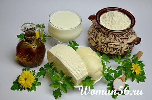 ингредиенты для сырных чебуреков