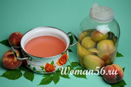 сироп для компота из персиков