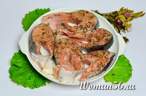 лосось в форме для запекания