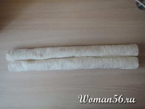 скрученное полотенце