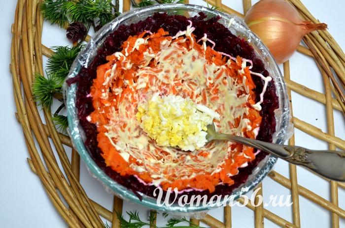 слой яйца для селедки под шубой