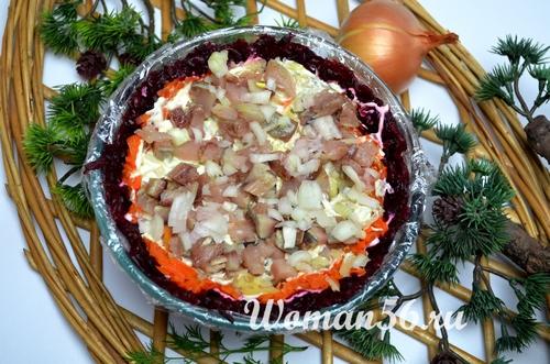 слой овощей для салата