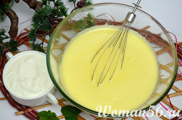 взбитые яйца с маслом