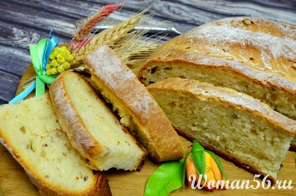 сметанный хлеб с семечками