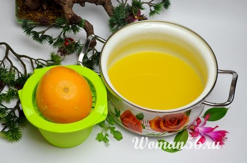 свежий сок из апельсинов