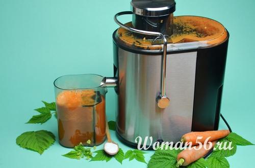 сок из моркови через соковыжималку
