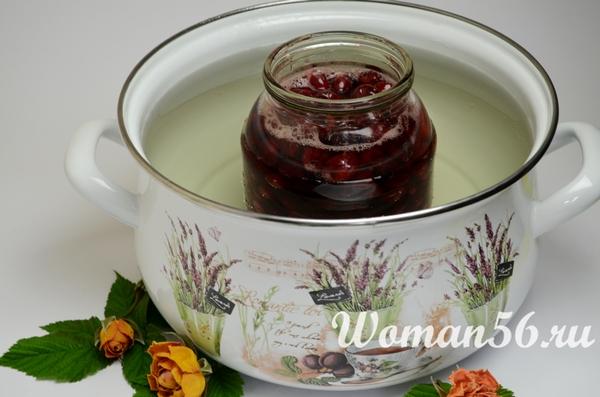 стерилизация вишни в соку