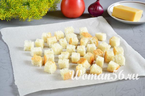 сухарики для салата с креветками