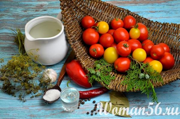 разноцветные помидоры для маринования