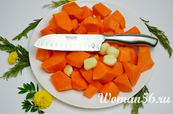 измелченные овощи для икры из тыквы