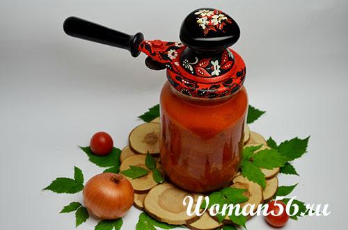 томатный соус с луком в банке
