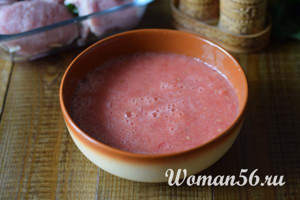 соус из помидор для мясных рулетиков