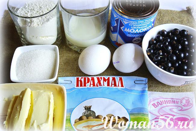 ингредиенты для торта с ягодами