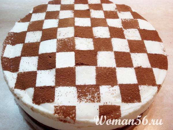 рецепт торта шахматная доска